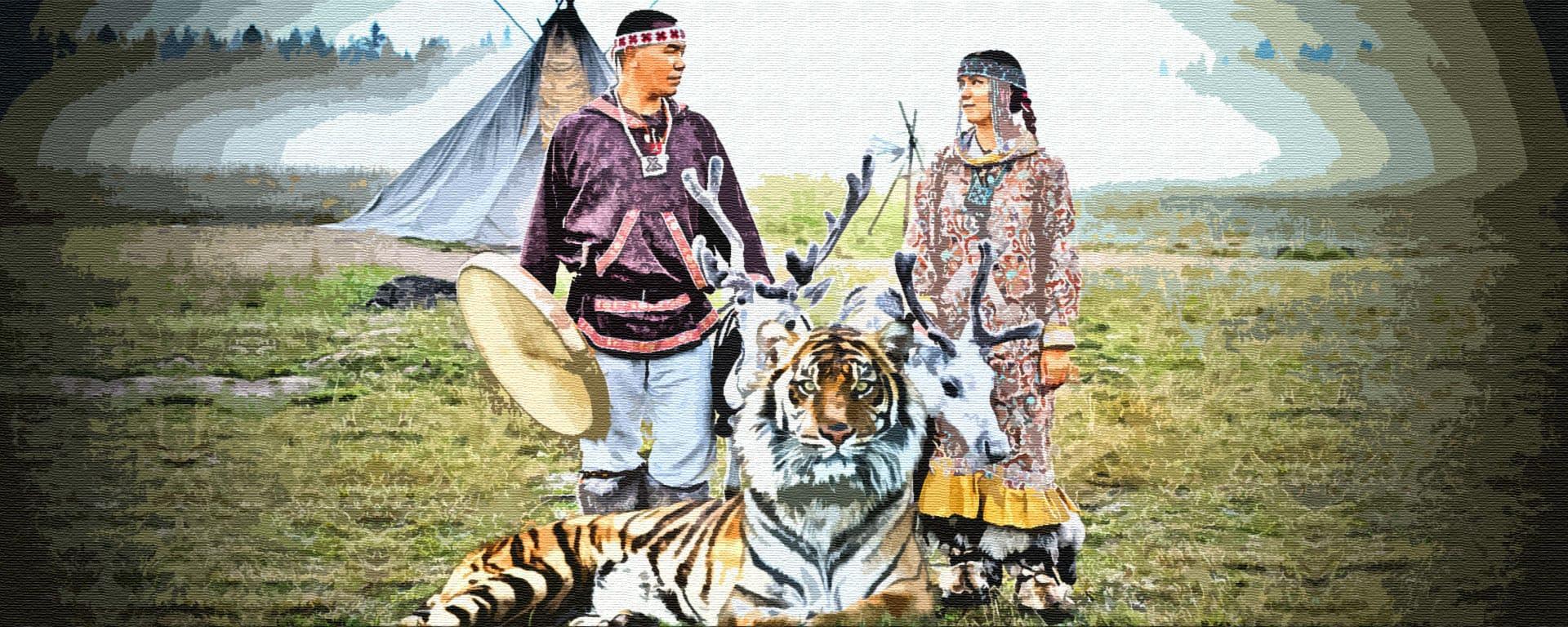 Паренёк и тигр