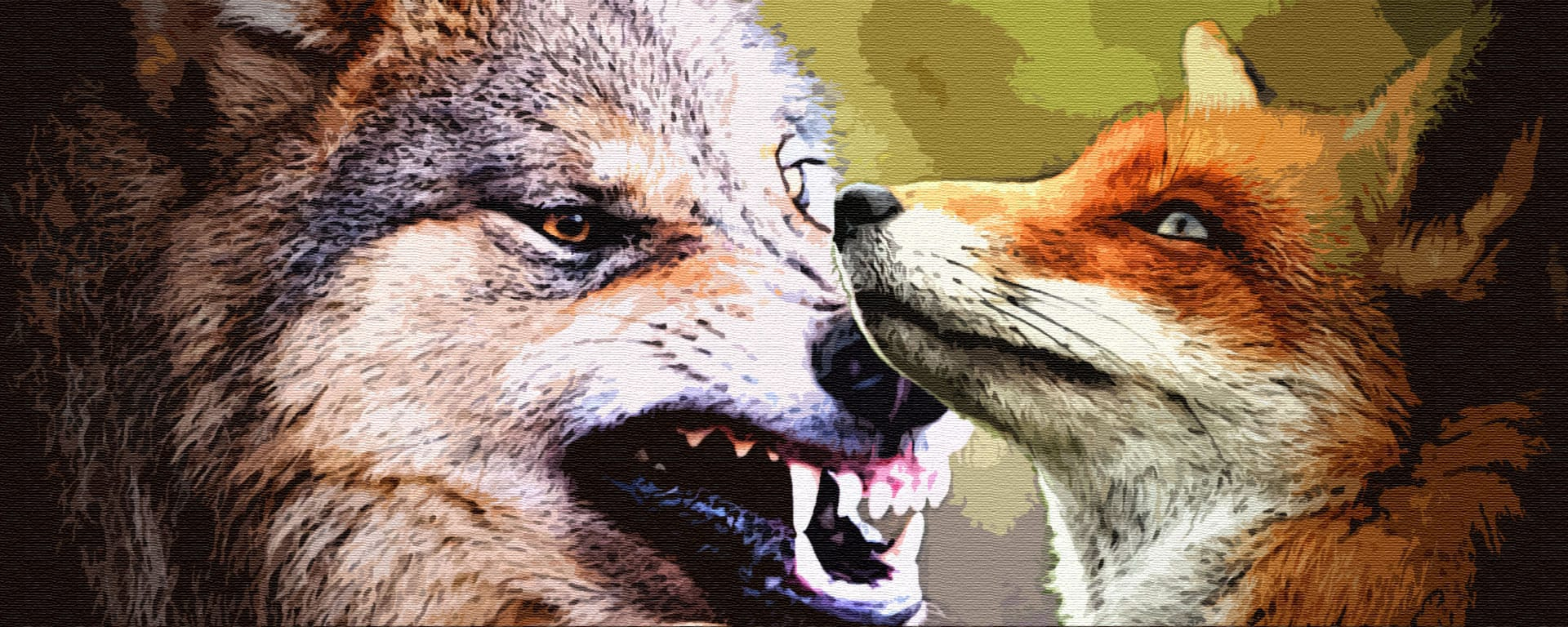Qvator | Жадный волк и лиса