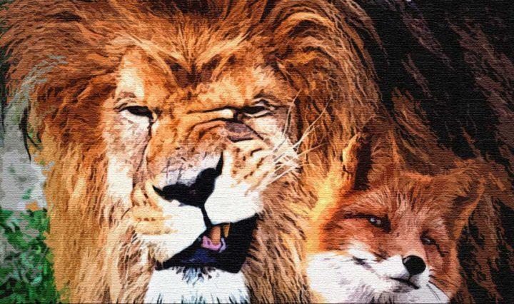 Как старый лис льва перехитрил